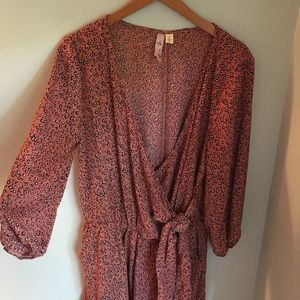 Francesca's pink romper with pockets
